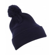 Yupoong 1501P Hats - Cuffed Knit Beanie with Pom Pom Hat