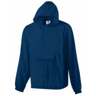 Augusta Drop Ship 31300 Jackets - Hooded Nylon Half Zip Pullover Pouch Jacket