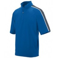 Augusta Drop Ship 3788 Pullover Shirts - Adult Water Resistant Poly/Span Short-Sleeve Half Zip Pullover
