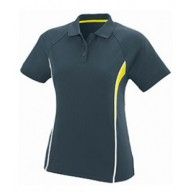 Augusta Drop Ship 5024 Shirts - Ladies Wicking Polyester Mesh Sport Shirt with Contrast Inserts