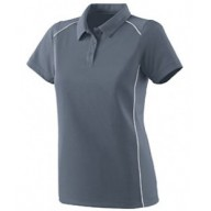 Augusta Drop Ship 5092 Shirts - Ladies Wicking Polyester Sport Shirt with Contrast Piping