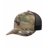 Yupoong 6606MC Hats - Retro Trucker Multicam® Snapback