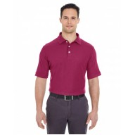 UltraClub 7510 Polo Shirts - Men's Platinum Honeycomb Piqué Polo