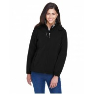 North End 78080 Jackets  - Ladies' Glacier Insulated Three-Layer Fleece Bonded Soft Shell Jacket with Detachable Hood