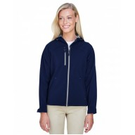 North End 78166 Jackets  - Ladies' Prospect Two-Layer Fleece Bonded Soft Shell Hooded Jacket