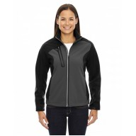 North End 78176 Jackets  - Ladies' Terrain Colorblock Soft Shell with Embossed Print