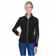 North End 78678 Jackets  - Ladies' Pursuit Three-Layer Light Bonded Hybrid Soft Shell Jacket with Laser Perforation