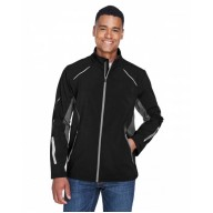 North End 88678 Jackets - Men's Pursuit Three-Layer Light Bonded Hybrid Soft Shell Jacket with Laser Perforation