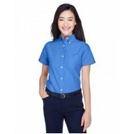 UltraClub 8973 Shirts - Ladies' Classic Wrinkle-Resistant Short-Sleeve Oxford