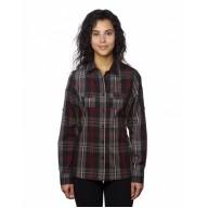 Burnside B5222 Shirts - Ladies' Long-Sleeve Plaid Pattern Woven Shirt