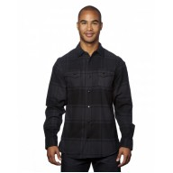 Burnside B8219 Woven Shirts  - Men's Snap-Front Flannel Shirt