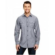 Burnside B8255 Woven Shirts  - Mens Chambray Woven Shirt