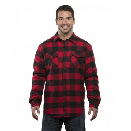 Burnside B8610 Jackets - Adult Quilted Flannel Jacket