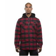 Burnside B8620 Jackets - Men's Hooded Flannel Jacket