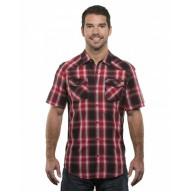 Burnside B9206 Shirts - Men's Plaid Pattern Western Woven