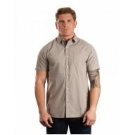 Burnside B9290 Woven Shirts  - Men's Peached Poplin Short Sleeve Woven Shirt