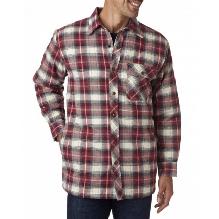 Backpacker BP7002T Woven Shirts  - Men's Tall Flannel Shirt Jacket with Quilt Lining
