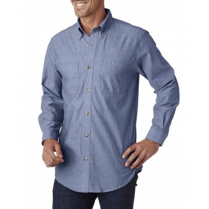Backpacker BP7004 Shirts - Men's Yarn-Dyed Chambray Woven