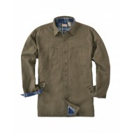 Backpacker BP7006T Woven Shirts  - Men's Tall Canvas Shirt Jacket with Flannel Lining
