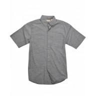 Backpacker BP7019T Woven Shirts  - Men's Tall Slub Chambray Short-Sleeve Shirt
