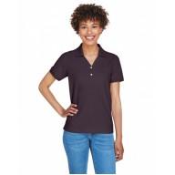 Devon & Jones D100W Polo Shirts - Ladies' Pima Piqué Short-Sleeve Y-Collar Polo