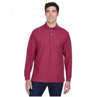 Devon & Jones D110 Polo Shirts - Men's Pima Piqué Long-Sleeve Polo