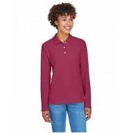 Devon & Jones D110W Polo Shirts - Ladies' Pima Piqué Long-Sleeve Polo