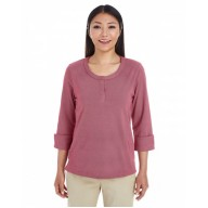 Devon & Jones DG230W Shirts - Ladies' Central Cotton Blend Mélange Knit Top