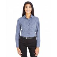 Devon & Jones DG535W Shirts - CrownLux Performance™ Ladies' Tonal Mini Check Shirt