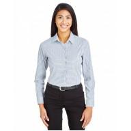 Devon & Jones DG540W Shirts - CrownLux Performance™ Ladies' Micro Windowpane Shirt