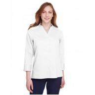 Devon & Jones DG560W Blouses - Ladies' Crown  Collection™ Stretch Broadcloth 3/4 Sleeve Blouse