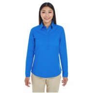 Devon & Jones DP610W Shirts - Ladies' Perfect Fit™ Half-Placket Tunic Top