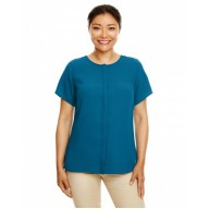 Devon & Jones DP612W Blouses - Ladies' Perfect Fit™  Short-Sleeve Crepe Blouse