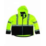 Berne HVJS206 Jackets - Men's Hi-Vis Class 3 Hooded Softshell Jacket