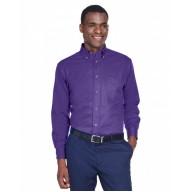 Harriton M500 Shirts - Men's Easy Blend™ Long-Sleeve TwillShirt withStain-Release