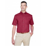 Harriton M500S Shirts - Men's Easy Blend™ Short-Sleeve Twill Shirt withStain-Release