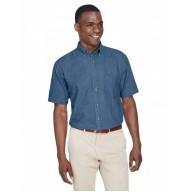 Harriton M550S Shirts - Men's 6.5 oz. Short-Sleeve Denim Shirt