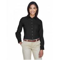 Harriton M550W Shirts - Ladies' 6.5 oz. Long-Sleeve Denim Shirt