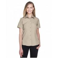 Harriton M560W Shirts - Ladies' Barbados Textured CampShirt