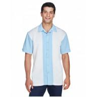Harriton M575 Shirts - Men's Two-Tone Camp Shirt