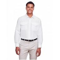 Harriton M580L Shirts - Men's Key West Long-Sleeve Performance Staff Shirt