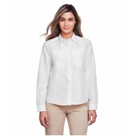 Harriton M580LW Woven Shirts  - Ladies' Key West Long-Sleeve Performance Staff Shirt