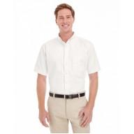 Harriton M582 Woven Shirts  - Men's Foundation 100% Cotton Short-Sleeve Twill Shirt with Teflon™