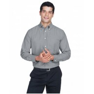Harriton M600 Shirts - Men's Long-Sleeve Oxford with Stain-Release