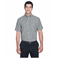 Harriton M600S Shirts - Men's Short-Sleeve Oxford with Stain-Release