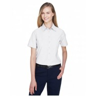 Harriton M600SW Shirts - Ladies' Short-Sleeve Oxford with Stain-Release