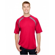 A4 N3001 Tees - Men's Spartan Short Sleeve Color Block Crew Neck T-Shirt