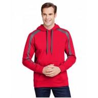 A4 N4004 Fleece Sweatshirts - Men's Spartan Tech-Fleece Color Block Hooded Sweatshirt