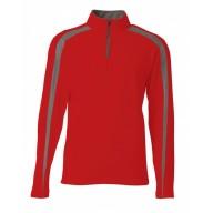 A4 N4005 Fleece Sweatshirts - Men's Spartan Fleece Quarter-Zip Sweatshirt