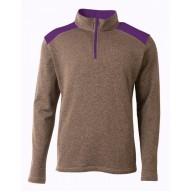 A4 N4094 Fleece Sweatshirts - Men's Tourney Fleece Quarter-Zip Pullover